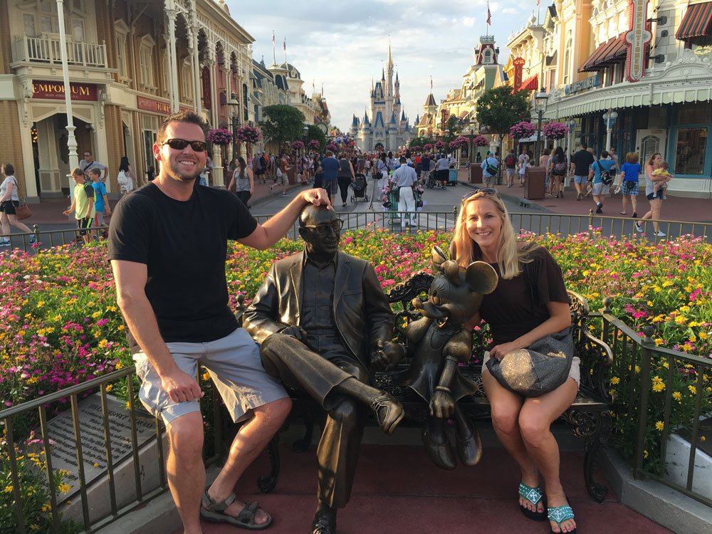 Brock and I at Walt Disney World in May 2016. This was the first time I had taken a week-long vacation in years.