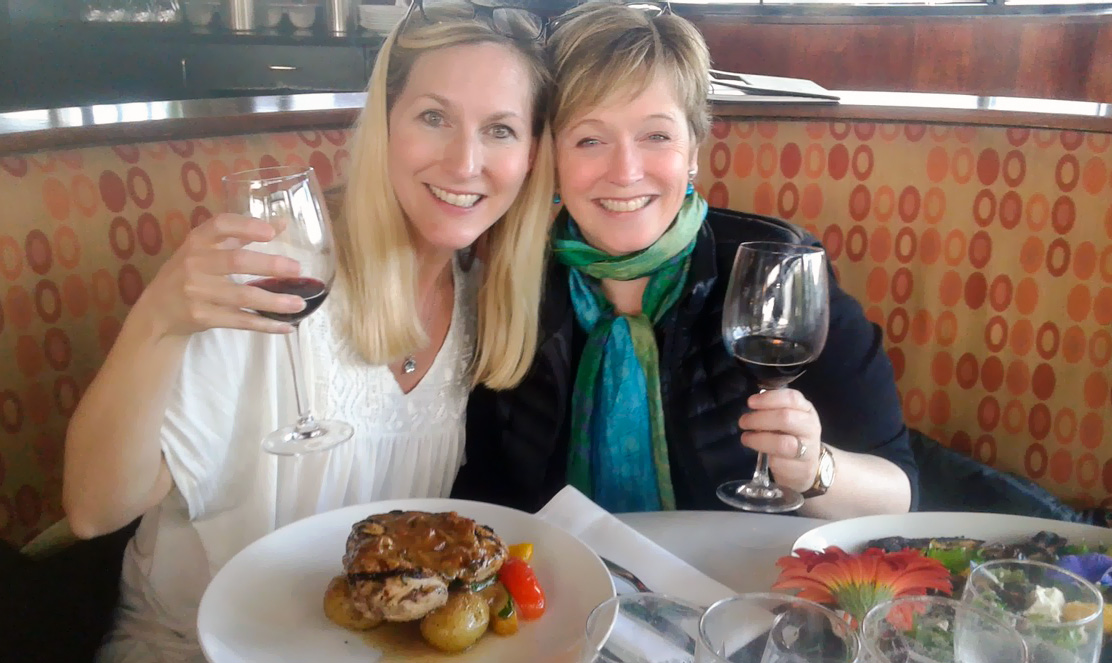 Today I can eat (and drink!) anything I want. My weight has now returned to a healthy level. Here I am celebrating my success with Annie Hopper - the founder of the DNRS program!