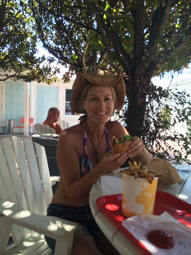 2015, Seaside, Florida – nothing felt better than being able to travel somewhere and actually not have to pack my food! Eating a burger and fries from a beachside food truck was a defining moment for me.